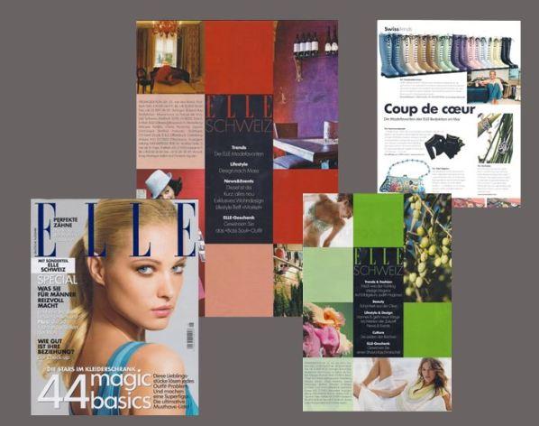 Luxus und Lifestyle aus der Schweiz: Redaktionsleitung des Schweizer Splits des Hochglanz-Magazins ELLE (bis 2005)