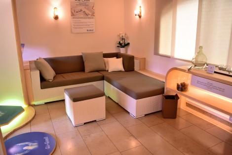Relax-Ecke in der Qi Motion Lounge des Hotels Auerhahn